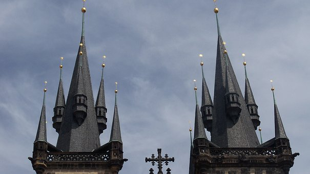 Prague, Church, Spires