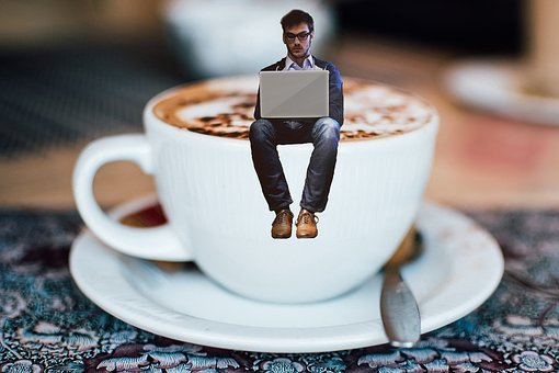 Coffee, Writer, Business, Office, Table, Notebook, Cup