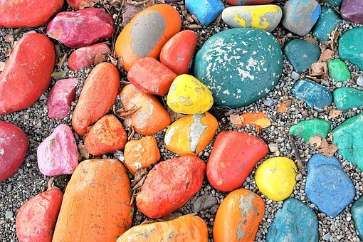 Stones, Colorful, Color, Design, Structure, Material