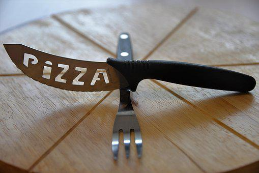Pizza Cutlery, Knife, Fork, Eat, Plate