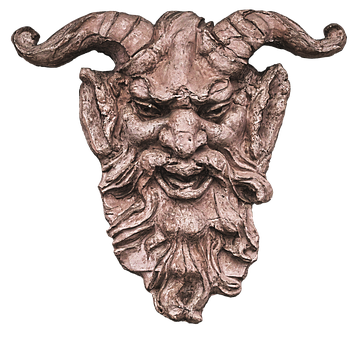 Head, Face, Horns, Figure, Fantasy, Mystical, Gnome