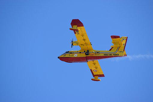 Canadair, Plane, Fire Escape, Fire, Flight, Air