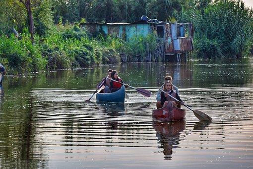 Canoeing, Water Sports, Watersports, Lake, Sport