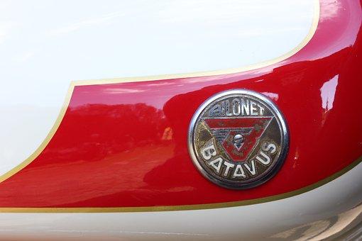 Moped, Tank, Batavus, Bilonet, Logo, Supersport