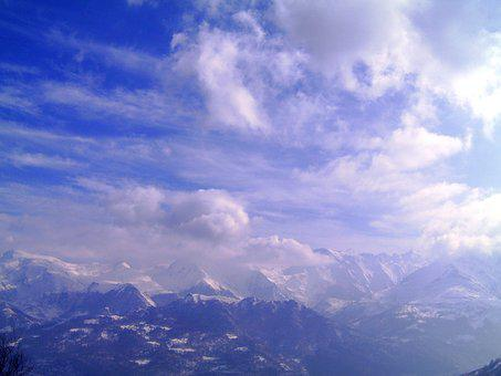 Sky, Mountain, Landscape, Nature, Cloudy Sky, Cloudy