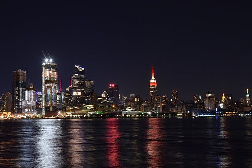 New York City, Skyline, Night, New York City Skyline