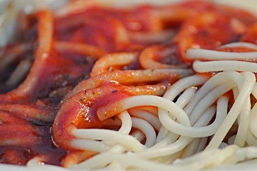 Spaghetti, Tomato Sauce, Eat, Noodles, Pasta, Food