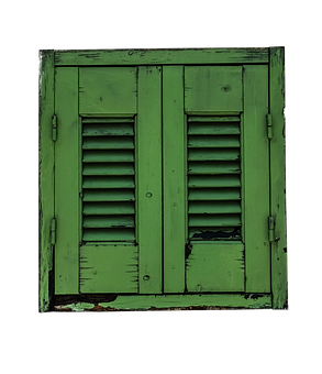Window, Shutter, Green, Shutters, Old, Old Window