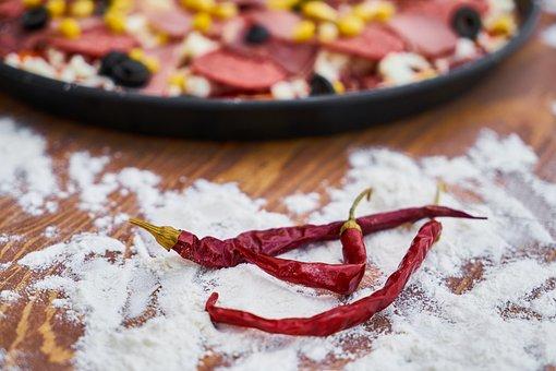 Pizza, Dough, Flour, Prepare, Egypt, Tomato, Sausage