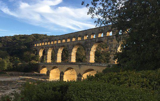 France, Provence, Pont-du-gard, Roman Empire, Ancient
