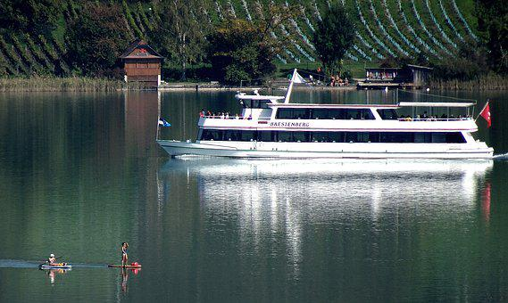 Lake Hallwil, Autumn, Seeglück, Ship, Sup, Water