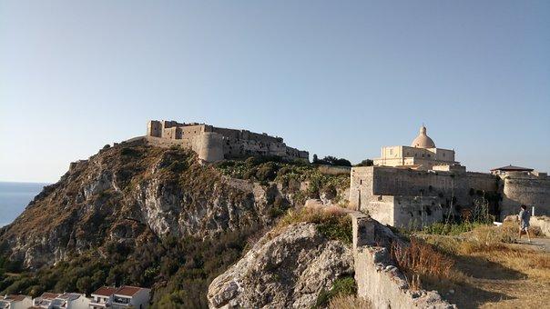 Milazzo, Sicily, Castle, Middle Ages, Summer, Tourism