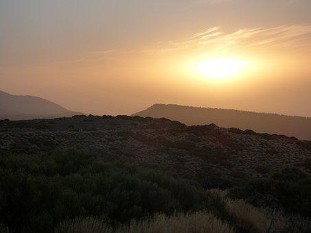 Sunset, Teide, Tennerifa, Mood