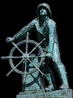 Tax Man, Steering Wheel, Captain, Sailors, Ship Leader