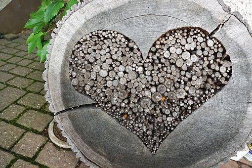 Heart, Wood, Love, Tinker, Art, Wooden Structure