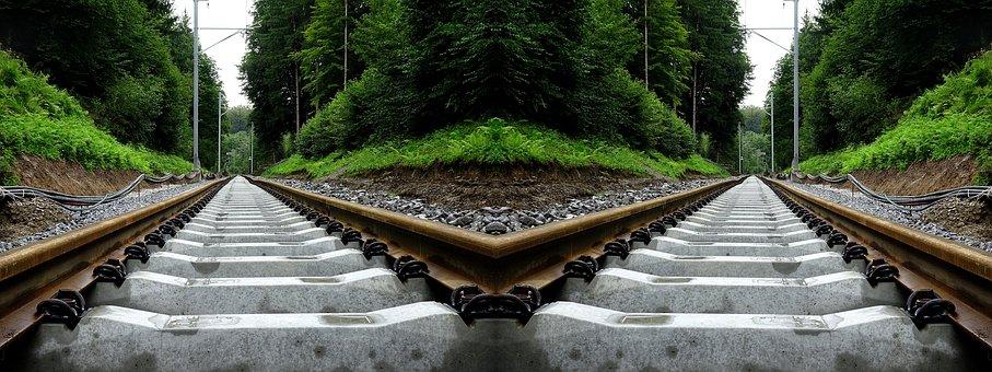 Rails, Railway, Optical Effect, Train, Rail Traffic