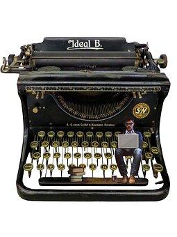 Typewriter, Writer, Retro, Vintage, Old, Type, Paper
