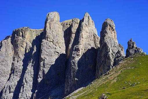 Sellatuerme, Sella, Mountains, Dolomites, Alpine