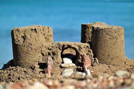 Sandburg, Beach, Sea, Holiday, Artwork, Towers, Digging