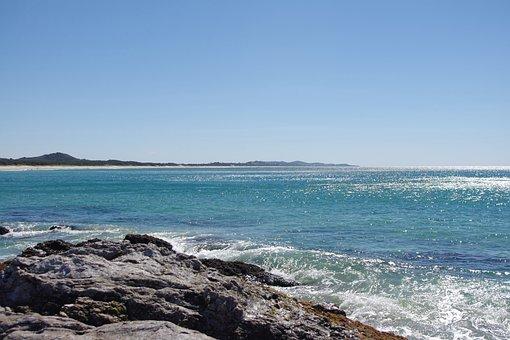 Ocean, Beach, Australia, Tropical, Scenic, Sea, Sun