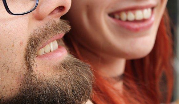 Emotion, Romance, Smile, Teeth, Beard, Mouth, Beauty