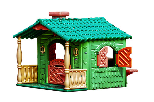Playhouse, Children's House, Kunststoffhaus, Colorful