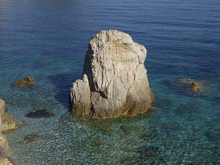 Sea, Summer, Rock, Elba Island, Italy