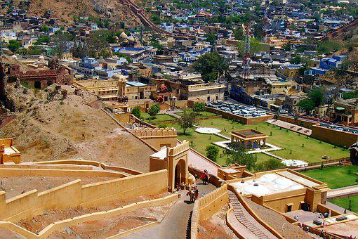 Amer Fort, Elephant Pathway, Elevated Road