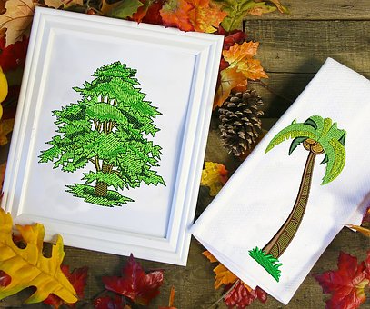 Embroidery, Embroidery Designs, Tree, Tree Designs