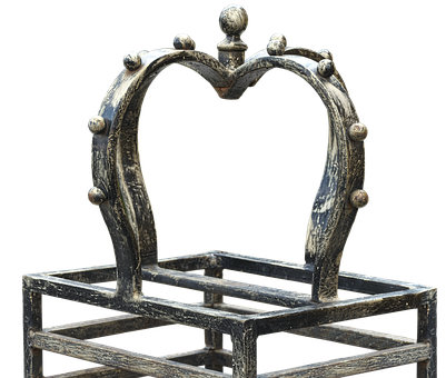 Crown, Wrought Iron, Forged, Fence, Rusted