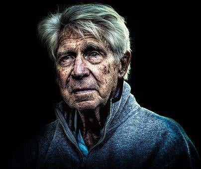Portrait, Face, Grief, Old, Person, Poverty, Character