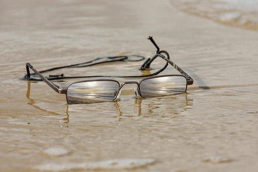 Glasses, Beach, Summer, Sun, Sand, Holiday, Mirroring