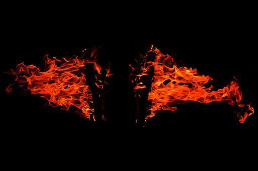 Fire, Burn, Flame, Hot, Heat, Blaze, Black, Light, Glow