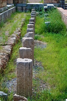 Columnar, Antiquity, Ruin, Greece, Archaeology, Messene