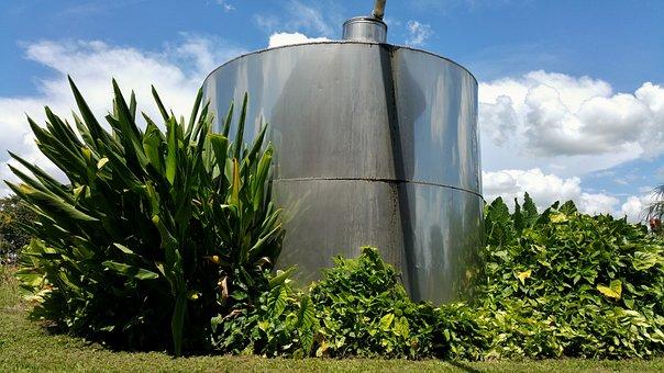 Tank, Plant's, Metallic, Sky