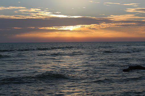 Meulaboh, Aceh Sunset, Sea, Surf
