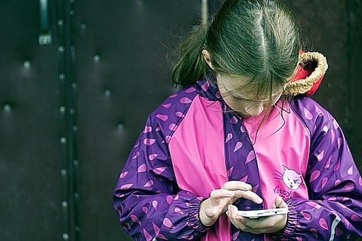 Girl, Mobile Phone, Phone, Study