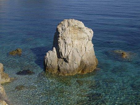 Sea, Summer, Rock, Elba Island, Italy