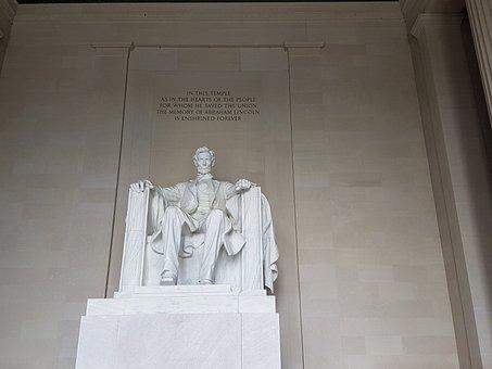 Lincoln, Memorial, Usa, Seat Of Government, America