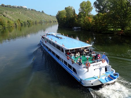 Neckar, Shipping, More, Excursion Boat, Stuttgart