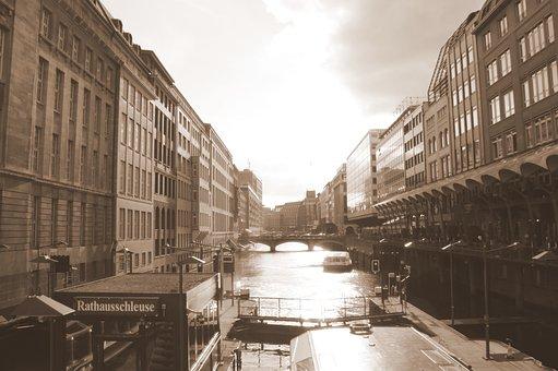 Hamburg, Speicherstadt, Architecture, Retro