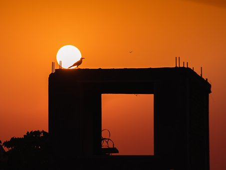 Sunset, Orange, Sky, Sun, Nature, Sunlight, Dusk, Red
