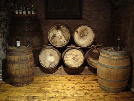 Barrels, Vault, Winery, Wine