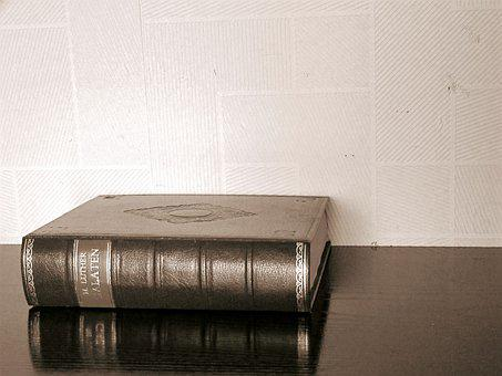 Sepia, Luther, Book, Cover, Old Book, Office, Wall