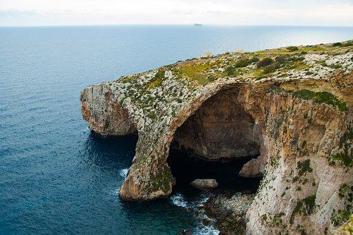 Malta, Blue Grotto, Water, Mediterranean Landscape