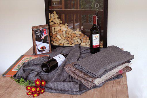 Wine, Autumn, Bottles, Red Wine, Plaid, Restaurant