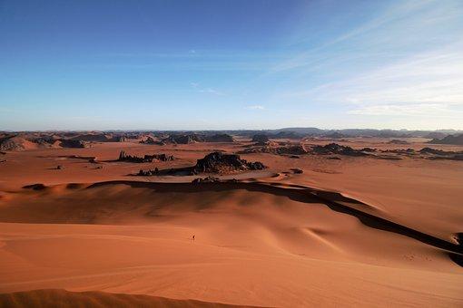 Algeria, Tassili N'ajjer, Sahara, Tin-merzouga, Sand