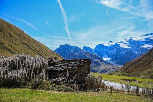 Alpine Scenery, Mountain House, Cottage, Stone House