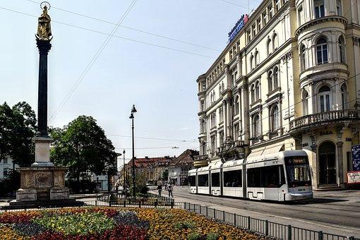 Am Eisernen Tor, Graz, Tram, Austria, Tram Tracks