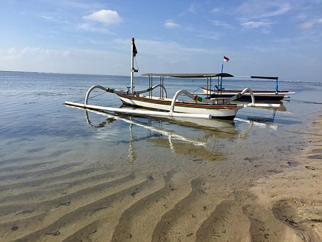 Beach, Bali, Indonesia, Indian Ocean, Sea, Boat, Ocean